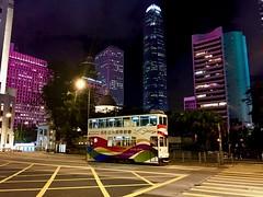 Doppeldecker-Strassenbahn in Hong Kong (ArminBe) Tags: strassenbahn tram hongkong skyscrapers china