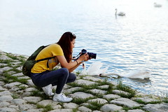 The Frustrated Photographer (Marija Mimica busy!!!) Tags: photographing danube swans river girl human emotion