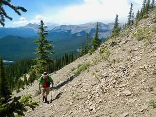 Nihahi Ridge Scramble - Ben on the rocky trail