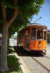 San Francisco - F-Train On The Embarcerdero (David Paul Ohmer) Tags: san francisco california ftrain embarcerdero street transportation