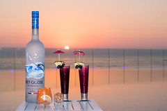 Grey Goose (Paul Saad) Tags: drink sunset sunrise dusk dawn beach sea clouds colors lebanon beirut lancaster bay grey goose vodka eden water