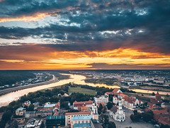 Summer Sunset | Kaunas old town aerial #191/365