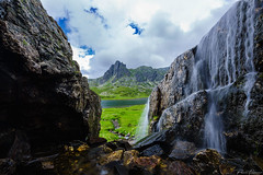 waterfalls (Plamen Troshev) Tags: rocks mountain landscape lake snow flowers waterfall reflection adventure new nature sky clouds 7th lakes