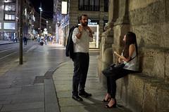 Jun 18, 2018 (pavelkhurlapov) Tags: street couple date talking interaction walkway night lights corner streetphotography temple