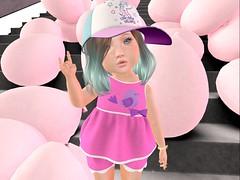 Mila Gacha by Thumbprint w/Summer Hat by Boomerang! (twinkletoesfashion) Tags: secondlife sl toddleedoo td toddleedoobaby bebe bebebody bento fashion