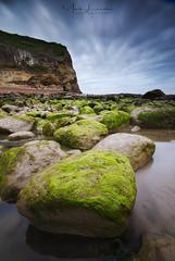 Fairlight Cove (Mark Leader) Tags: fairlight cove hastings green blue cliffs rocks pool rockpool seascape coast coastal beach shore moss weed seaweed