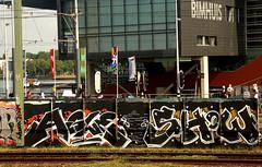 graffiti in Amsterdam (wojofoto) Tags: amsterdam nederland netherland holland graffiti streetart wojofoto wolfgangjosten show asle trackside spoor spoorweg railway rails