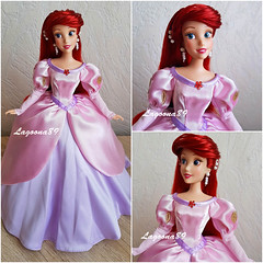 Ariel Pink Dress (Lagoona89) Tags: ariel arielle the little mermaid doll dress custom ooak disney