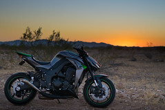 Z1000 during sunset (vincentinfante) Tags: sunset hdr kawasaki motorcycle z1000 desert a6000