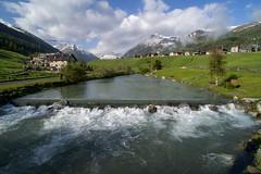 Luigion (quanuaua) Tags: ifttt 500px luigio laghetto da luigion livigno ciclopedonalelivigno san rocco saroch landscape panorama fiume spöl valtellina italy alps alpine village