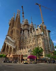 La Sagrada Familia (seantindale) Tags: lasagradafamilia barcelona espana catalunya spain europe olympus omdem5markii cathedral architecture travel explore building city street travelphotography