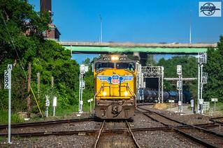 Eastbound UP Manifest Train at Kansas City, MO