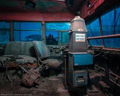 Welcome Aboard (dejavue.us) Tags: lightpainting longexposure d850 nightphotography nikon text exactfare vle bus fullmoon derelict 140240mmf28 abandoned interior nikkor