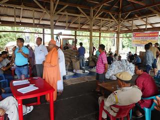 RKM Imphal Flood Relief Day on 26.06.2018 Wahengbam, Longjam, Thoudam & Thounaojam Leikais at Wangoi