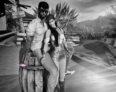 """Summer means happy times and good sunshine…."" (Roy Mildor - I am how I am !) Tags: roymildor rmartofposes onbarrel devinsseye devinseye sim desert destination sl secondlife posefair posing animation wüste nature landscape"