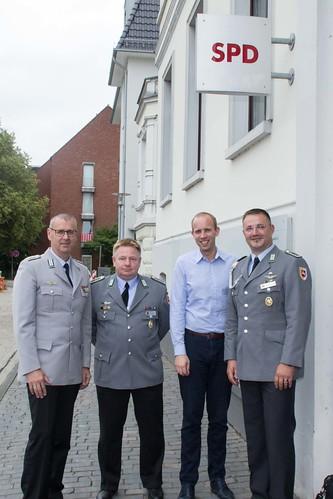 Kennenlerntreffen mit dem Bundeswehrverband Oldenburg in der Huntestraße.