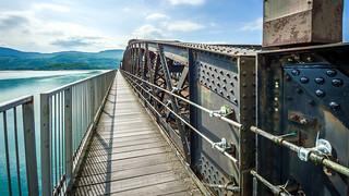Barmouth estuary railway bridge