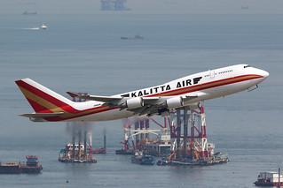 N745CK, 747-400BCF, Kalitta Air, Hong Kong