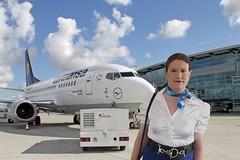 Ready for takeoff (Rikky_Satin) Tags: silk satin blouse scarf leather belt crossdresser transvestite tgirl tgurl sissy stewardess flight attendant air hostess