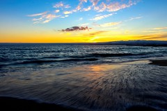 Last sunset in Portugal (Capichoni) Tags: sunset amazingsunset atlanticocean caparica amazingshot sea portugal bluesky skylights sunlights