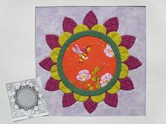 Chuck Nohara Block nr. 684.  Hand stitched  applique (ompompali Claudia) Tags: chucknohara applique handstitching patchwork quilt