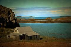 From Iceland. (Tóta. 27.12.1964.) Tags: landscape house water sea clouds sky stykkishólmur iceland ísland