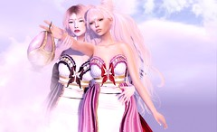 Reaching Out (Taylor Holloway) Tags: secondlife moon cureless violentseduction peachesncream cosmicdust thecrystalheartfestival reachingout fantasy sisters mesh taylorwassep