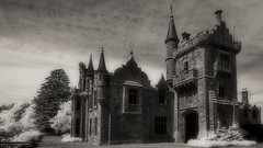 Ecclesgreig House (Shot Yield Photography) Tags: scotland uk greatbritain british scottish ecclesgreighouse ecclesgreigcastle castle house mansion manor history historic ruins exploration derelict dereliction decay abandoned premises building architecture remains creepy scary spooky eerie place haunted dark mystic mysterious atmosphere picture shot yield black white bw monochrome ir infra red infrared photography shotyieldphotography