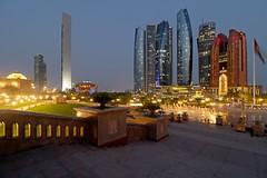 Etihad Towers (Abu Dhabi) (rogelio g arcangel) Tags: unitedarabemirates bluehour canonphotography canon middleeast westernasia emiratespalace jumeirahatetihadtowers etihadtowers uae abudhabi
