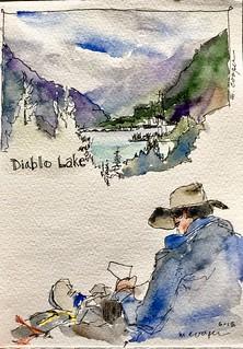 Overlooking Diablo Lake