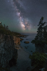 Ravens Nest (Mike Ver Sprill - Milky Way Mike) Tags: ravens nest schoodic acadia national park maine travel landscape nature milky way galaxy mike ver sprill michael versprill nikon 1424 wide angle nightscape night sky dark skies universe astrophotography astronomy stars starry water ocean sea east coast coastline trees moon lit