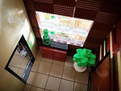 Coral House MOC bedroom window (betweenbrickwalls) Tags: lego toys afol moc modernhomes modernliving living interiors window