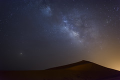 Extraterrestrial (Darren Poun) Tags: ngc merzouga sahara desert morocco africa arab arabic sanddune nature landscape traveling sunset nikon d800 d800e f14 nikkor24mm nightphotography nightsky night astrophotography stars starscape milkyway astroscape