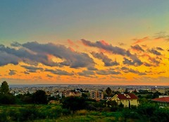 Limassol by sunset - Cyprus (Andreas Komodromos) Tags: limassol cyprus city cityscape colorful colour europe eu mediterranean photography nyandreas dusk outdoor landscape sunlight skyline clouds travel rooftop dramatic
