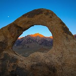 Lone Pine Peak Through Whitney Portal Arch @ Dawn thumbnail