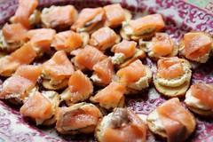 Salmon on toast (*Amanda Richards) Tags: edible food treats birthday party menu salmon
