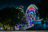 outside the midway (pbo31) Tags: 2018 alamedacountyfair pleasanton california eastbay bayarea carnival lightstream motion ride color night dark boury pbo31 nikon d810 june summer black midway butler amusements ferris wheel spin speed