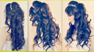 Half Up and Half Down Hairstyles for Prom – Formal Half Updo For Prom Wedding Me…