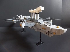 Her Majesty's Aerial Cruiser Swiftsure (SaurianSpacer) Tags: lego moc steampunk airship airdreadnought quadcopter steam