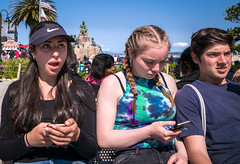 teenagers, Monterey (vhines200) Tags: teenagers monterey california 2017 californians portrait people teens youth friends girl boy braids americana americanflag adolescents