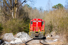 In the Woods on the Marble Branch (Kyle Yunker) Tags: gnrr georgia northeastern rairoad gp9 emd high hood train branch marble hill