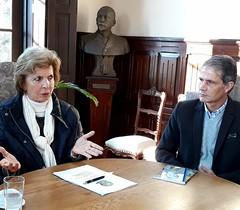 15/06/18 - Visita ao Prefeito de Bagé/RS, Manoel Machado. Com o secretário de Saúde, Mário Mena Kalil.