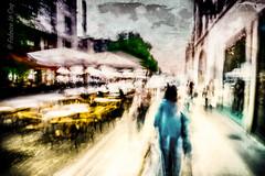 4 novembre 2006, Nancy (Fabrice Le Coq) Tags: agen personnes flou rue ville ciel silouhète bleu vert jaune