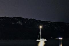 Night Shots Corfu (JonSalim) Tags: sterne stars beach nightshots sailboatatnight agiosgeorgios