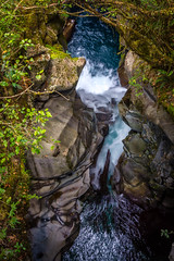 View of a Waterfall from Above (tcmealy) Tags: water gorge long exposure nikon d7200 travel fiordland national park