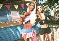 Summer Fun... (SoliCaproni) Tags: cherry bloom event maitreya leven ink tattoo belleza omega rezology hair mesh posed couple pose
