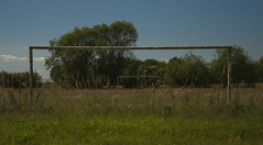 Old football field (Joe Catrin) Tags: old foot football field fields soccer color blue sky gazon herbe rust rusty tree horizon earth ete reality instant inspiration picture photo picoftheday paysage pics plants profondeur poteau landscape sun summer france flower forest green grass nikon life moment wild world wood cloud ciel nature ngc natural sport sports sauvage