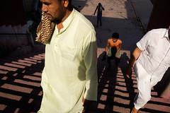 Stairs (SaumalyaGhosh.com) Tags: stairs people light shadows walk morning india kolkata street streetphotography fuji xt2