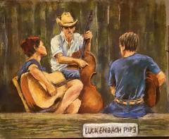 Luckenbach Musicians (sharivahidi) Tags: musicians people figure pastels painting
