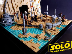 SOLO: A Star Wars Story - The Spice Mines of Kessel (KevFett2011) Tags: kevfett2011 starwars solo a star wars story han kessel chewbacca lando landscape tan movie disney lucasfilm 2018 lego art hobby photography artist kusel edit coaxium mission pyke syndicate